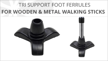 TRI SUPPORT WALKING STICK RUBBER FERRULES